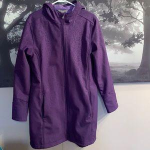 Purple mid length lightweight coat XL